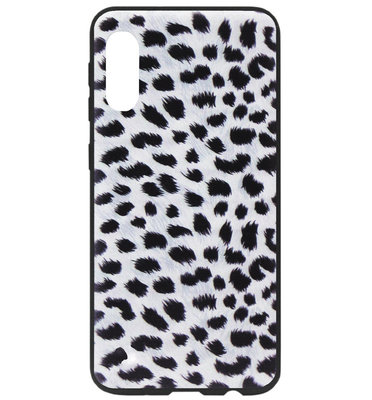 ADEL Siliconen Back Cover Softcase Hoesje voor Samsung Galaxy A70(s) - Luipaard Wit