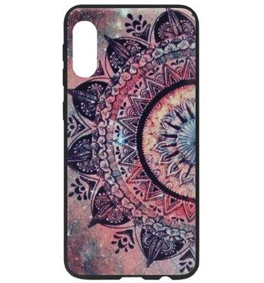 ADEL Siliconen Back Cover Softcase Hoesje voor Samsung Galaxy A70(s) - Mandala Bloemen