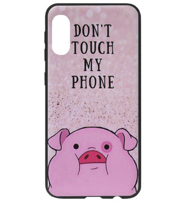 ADEL Siliconen Back Cover Softcase Hoesje voor Samsung Galaxy A70(s) - Biggetje Don't Touch My Phone