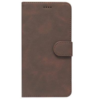 ADEL Kunstleren Book Case Portemonnee Pasjes Hoesje voor Samsung Galaxy A70(s) - Bruin
