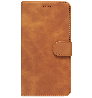 ADEL Kunstleren Book Case Portemonnee Pasjes Hoesje voor Samsung Galaxy A70(s) - Lichtbruin