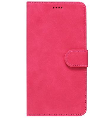 ADEL Kunstleren Book Case Portemonnee Pasjes Hoesje voor Samsung Galaxy A70(s) - Roze