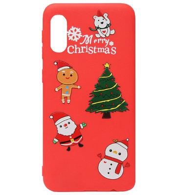 ADEL Siliconen Back Cover Softcase Hoesje voor Samsung Galaxy A70(s) - Kerstmis Boom Sneeuwpop Kerstman
