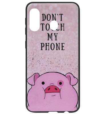ADEL Siliconen Back Cover Softcase Hoesje voor Samsung Galaxy A60/ M40 - Biggetje Don't Touch My Phone