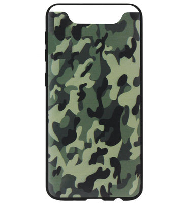ADEL Siliconen Back Cover Softcase Hoesje voor Samsung Galaxy A80/ A90 - Camouflage