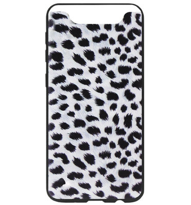 ADEL Siliconen Back Cover Softcase Hoesje voor Samsung Galaxy A80/ A90 - Luipaard Wit