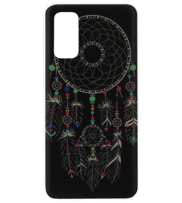 ADEL Siliconen Back Cover Softcase Hoesje voor Samsung Galaxy S20 - Dromenvanger Mandala Donker