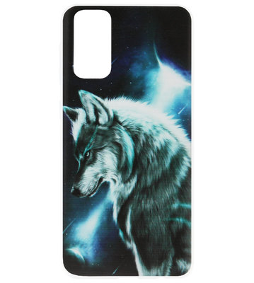 ADEL Siliconen Back Cover Softcase Hoesje voor Samsung Galaxy S20 Ultra - Wolf Blauw