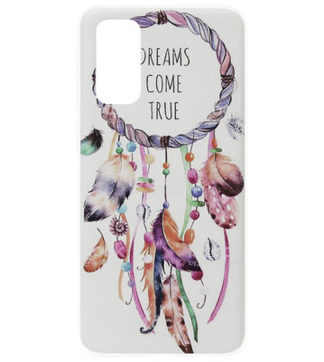 ADEL Siliconen Back Cover Softcase Hoesje voor Samsung Galaxy S20 Plus - Dromenvanger Kleur