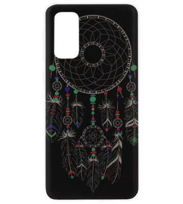 ADEL Siliconen Back Cover Softcase Hoesje voor Samsung Galaxy S20 Plus - Dromenvanger Mandala Donker