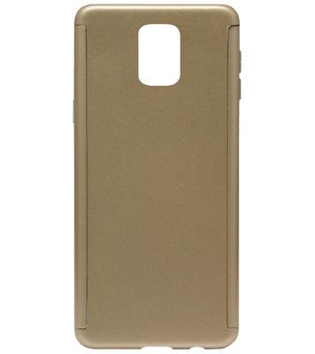 ADEL Kunststof Back Cover Hardcase Hoesje met Screenprotector voor Samsung Galaxy S5 (Plus)/ S5 Neo  - Goud