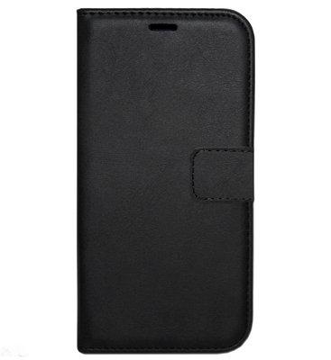 ADEL Kunstleren Book Case Pasjes Hoesje voor Samsung Galaxy S6 Edge - Zwart