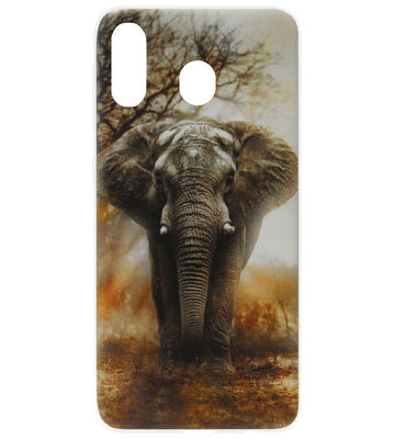 ADEL Siliconen Back Cover Softcase Hoesje voor Samsung Galaxy A20/ A30 - Olifant