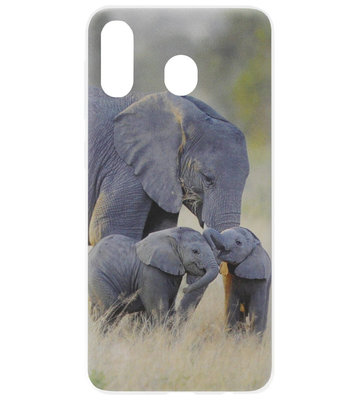 ADEL Siliconen Back Cover Softcase Hoesje voor Samsung Galaxy A20/ A30 - Olifant Familie