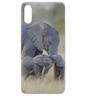 ADEL Siliconen Back Cover Softcase Hoesje voor Samsung Galaxy A70(s) - Olifant Familie