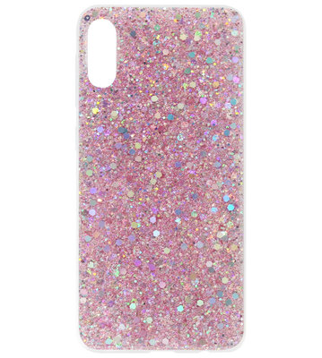 ADEL Premium Siliconen Back Cover Softcase Hoesje voor Samsung Galaxy A70(s) - Bling Bling Roze