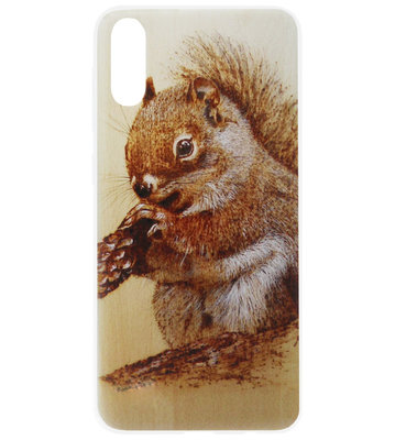ADEL Siliconen Back Cover Softcase Hoesje voor Samsung Galaxy A70(s) - Eekhoorn