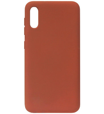 ADEL Premium Siliconen Back Cover Softcase Hoesje voor Samsung Galaxy A70(s) - Bruin