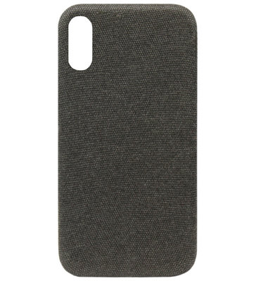 ADEL Kunststof Back Cover Hardcase Hoesje voor Samsung Galaxy A70(s) - Stoffen Design Zwart