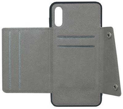 ADEL Kunstleren Back Cover Portemonnee Hoesje voor Samsung Galaxy A70(s) - Pasjeshouder Grijs