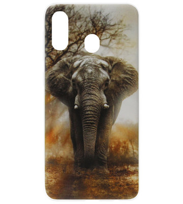 ADEL Siliconen Back Cover Softcase Hoesje voor Samsung Galaxy A40 - Olifant
