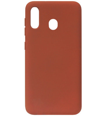 ADEL Premium Siliconen Back Cover Softcase Hoesje voor Samsung Galaxy A40 - Bruin