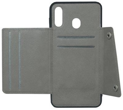 ADEL Kunstleren Back Cover Portemonnee Hoesje voor Samsung Galaxy A40 - Pasjeshouder Grijs
