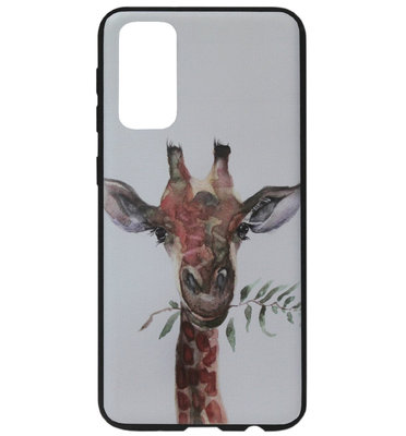 ADEL Siliconen Back Cover Softcase Hoesje voor Samsung Galaxy S20 Ultra - Giraf