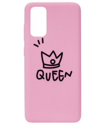 ADEL Siliconen Back Cover Softcase Hoesje voor Samsung Galaxy S20 - Queen Roze