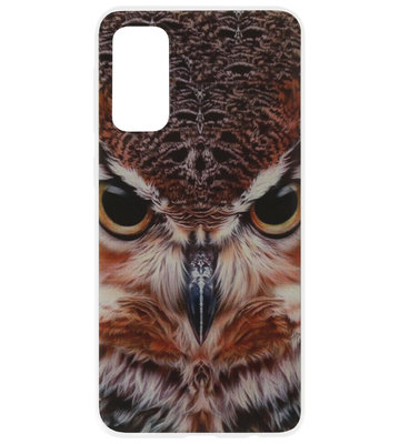 ADEL Siliconen Back Cover Softcase Hoesje voor Samsung Galaxy S20 - Uil