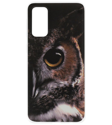 ADEL Siliconen Back Cover Softcase Hoesje voor Samsung Galaxy S20 - Uil Oog