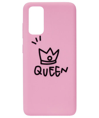 ADEL Siliconen Back Cover Softcase Hoesje voor Samsung Galaxy S20 Plus - Queen Roze