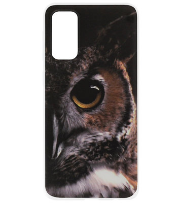 ADEL Siliconen Back Cover Softcase Hoesje voor Samsung Galaxy S20 Plus - Uil Oog