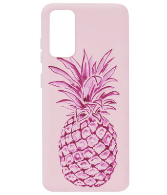 ADEL Siliconen Back Cover Softcase Hoesje voor Samsung Galaxy S20 Ultra - Ananas Roze