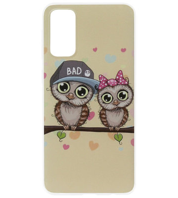 ADEL Siliconen Back Cover Softcase Hoesje voor Samsung Galaxy S20 Ultra - Uilen Familie