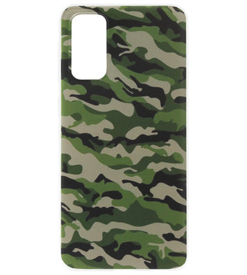 ADEL Siliconen Back Cover Softcase Hoesje voor Samsung Galaxy S20 Plus - Camouflage