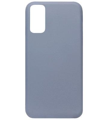 ADEL Premium Siliconen Back Cover Softcase Hoesje voor Samsung Galaxy S20 Plus - Lavendel Blauw Paars
