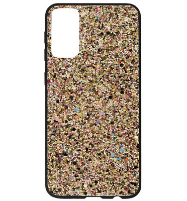 ADEL Kunststof Back Cover Hardcase Hoesje voor Samsung Galaxy S20 Ultra - Bling Bling Glitter Goud