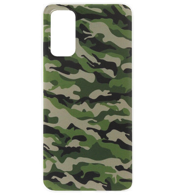 ADEL Siliconen Back Cover Softcase Hoesje voor Samsung Galaxy S20 Ultra - Camouflage