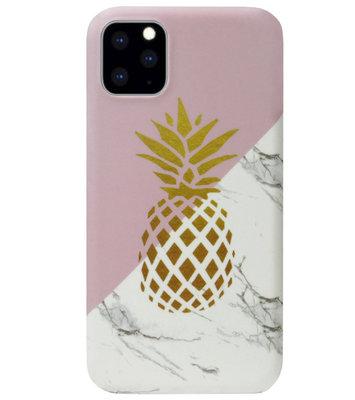 ADEL Kunststof Back Cover Hardcase Hoesje voor iPhone 11 Pro - Ananas