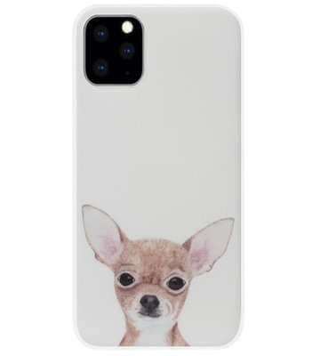 ADEL Siliconen Back Cover Softcase Hoesje voor iPhone 11 Pro Max - Chihuahua Hond