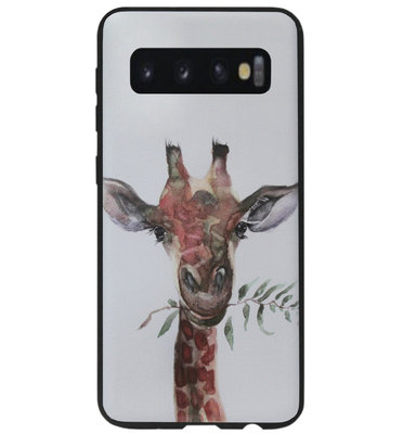 ADEL Siliconen Back Cover Softcase Hoesje voor Samsung Galaxy S10e - Giraf