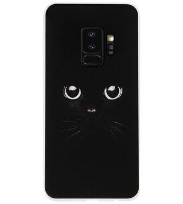 ADEL Siliconen Back Cover Softcase Hoesje voor Samsung Galaxy S9 - Katten Zwart