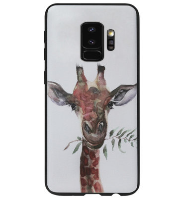 ADEL Siliconen Back Cover Softcase Hoesje voor Samsung Galaxy S9 - Giraf