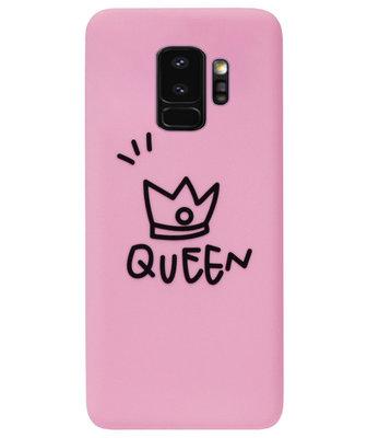 ADEL Siliconen Back Cover Softcase Hoesje voor Samsung Galaxy S9 Plus - Queen Roze