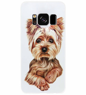 ADEL Siliconen Back Cover Softcase Hoesje voor Samsung Galaxy S8 Plus - Yorkshire Terrier Hond