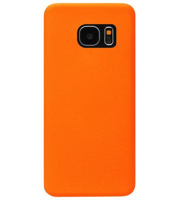 ADEL Siliconen Back Cover Softcase Hoesje voor Samsung Galaxy S7 Edge - Oranje