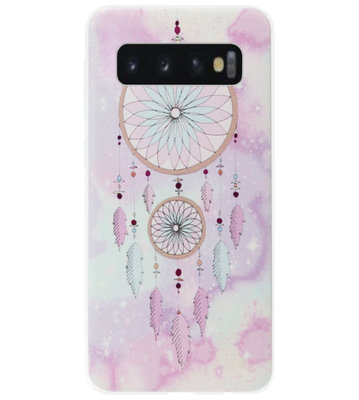 ADEL Siliconen Back Cover Softcase Hoesje voor Samsung Galaxy S10e - Dromenvanger Roze