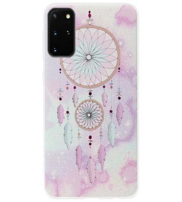ADEL Siliconen Back Cover Softcase Hoesje voor Samsung Galaxy S20 Plus - Dromenvanger Roze