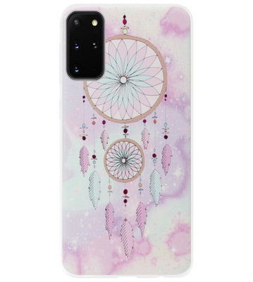 ADEL Siliconen Back Cover Softcase Hoesje voor Samsung Galaxy S20 Ultra - Dromenvanger Roze